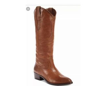 Frye western ray pull on tall boots NWOT